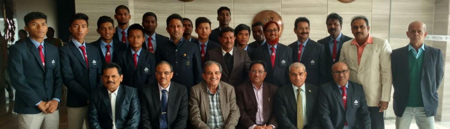 Shri Chaudhary Birender Singh felicitated the SAIL U-17 football team on winning the Subroto Cup Championship on 11th January 2018 in Kolkata.