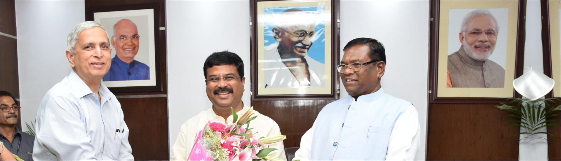 Shri Dharmendera Pradhan assumed the charge as Minister of Steel and Shri Faggan Singh Kulaste, assumed the charge as Minister of State for Steel